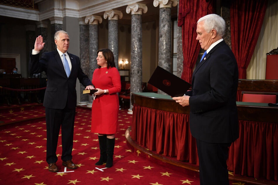 Vice President Mike Pence administered the oath of office to senators of the 117th Congress of the United States.