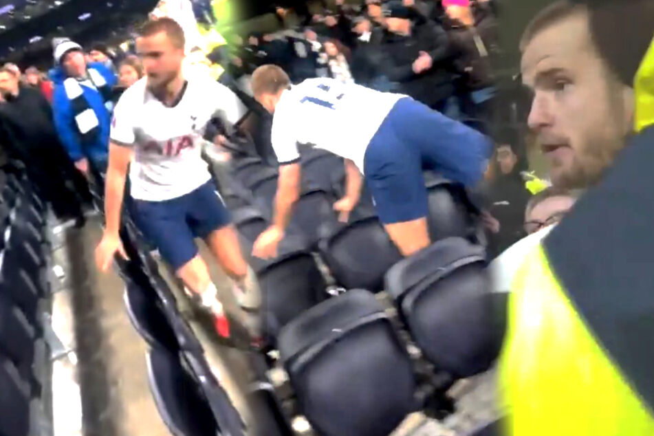 Nach Pokal-Aus: Tottenham-Spieler stürmt Tribüne und geht auf Fan los!
