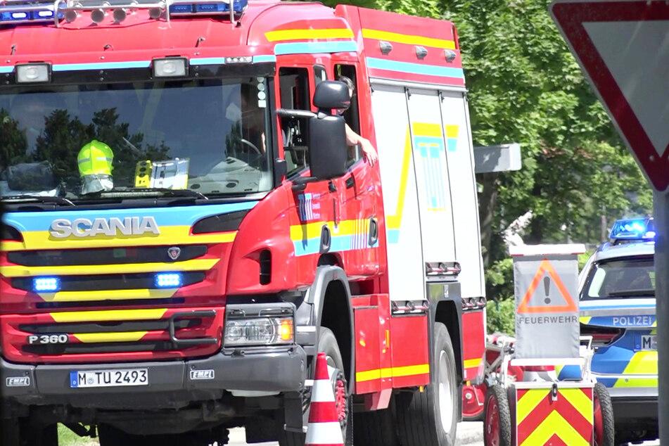Großeinsatz der Feuerwehr: In Garching bei München ist es zu einer Explosion gekommen.