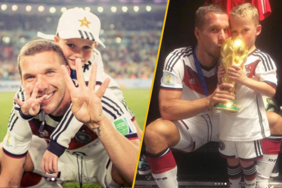 Die magische WM-Nacht von Rio 2014 stand im Mittelpunkt des Geburtstagsgrußes, den Lukas Podolski (35) seinem Sohn Louis (13) auf Instagram widmete.