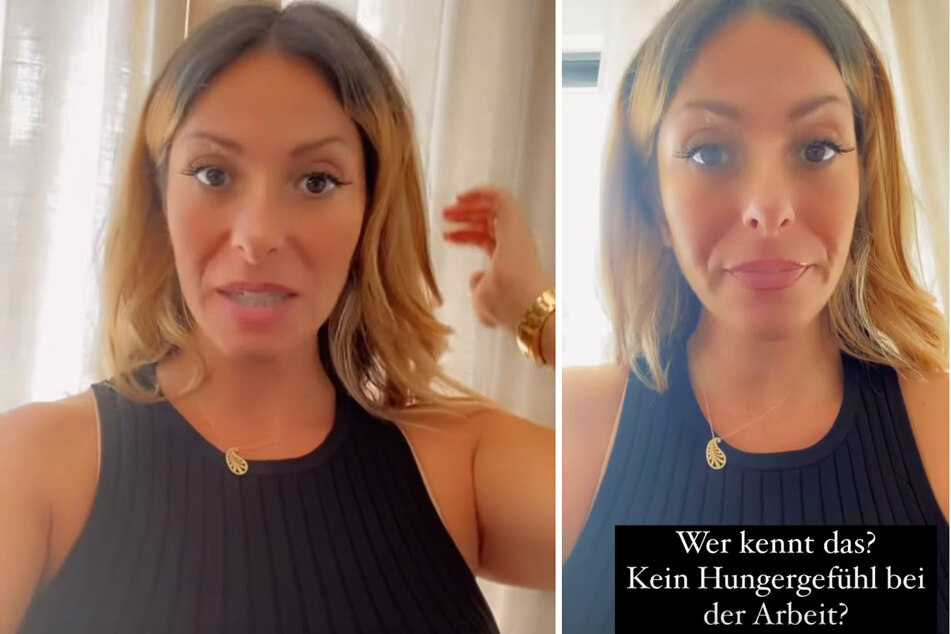 Gülcan Kamps (38) erzählt bei Instagram, dass sie während der Arbeit einfach kein Hungergefühl hat. (Fotomontage)
