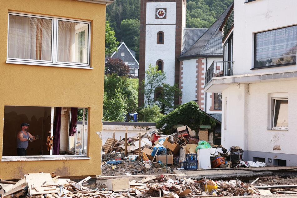 Die Flut-Katastrophe hatte im Juli 2021 eine Spur der Verwüstung in Teilen von NRW hinterlassen.