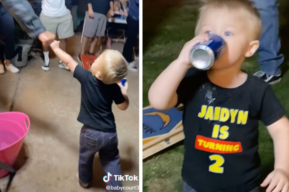 TikTok toddler proves he's the life of the party one fist bump at a time