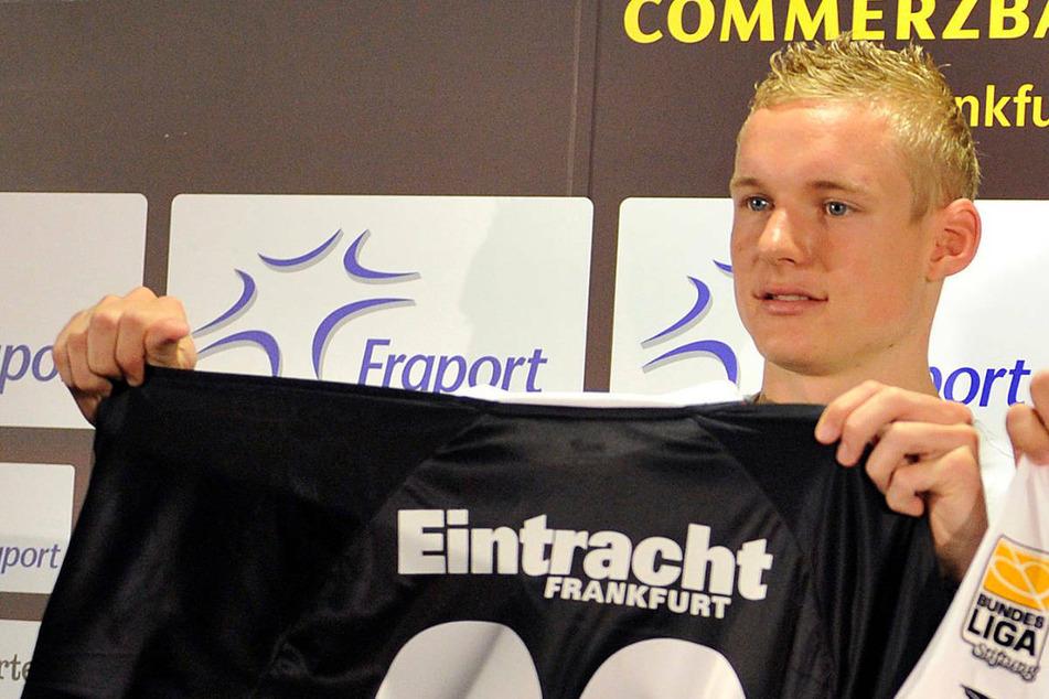 Bereits zwischen 2010 und 2014 stand Sebastian Rode - hier bei seiner Vorstellung am 4. Juni 2010 - beim hessischen Bundesligisten unter Vertrag.