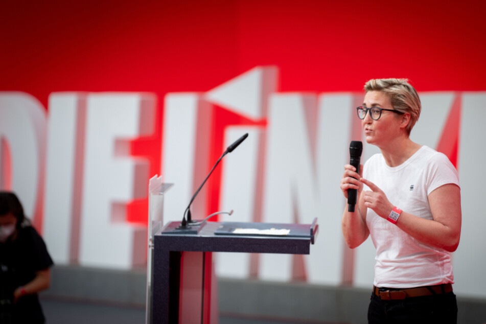 Große Worte und viel Kritik haben die Rede von Susanne Hennig-Wellsow (43, Linke) in Sömmerda gekennzeichnet.