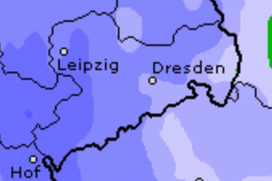In der kommenden Nacht soll es weiter stark regnen: Je dunkle eine Region gefärbt ist, desto mehr Niederschlag soll es geben.