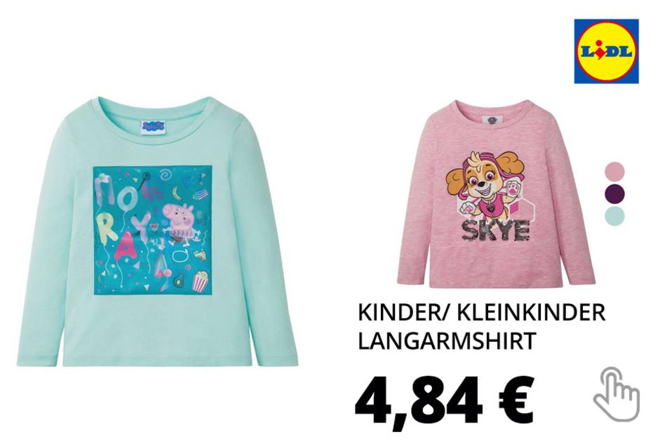 Kinder/ Kleinkinder Langarmshirt, aus reiner Baumwolle