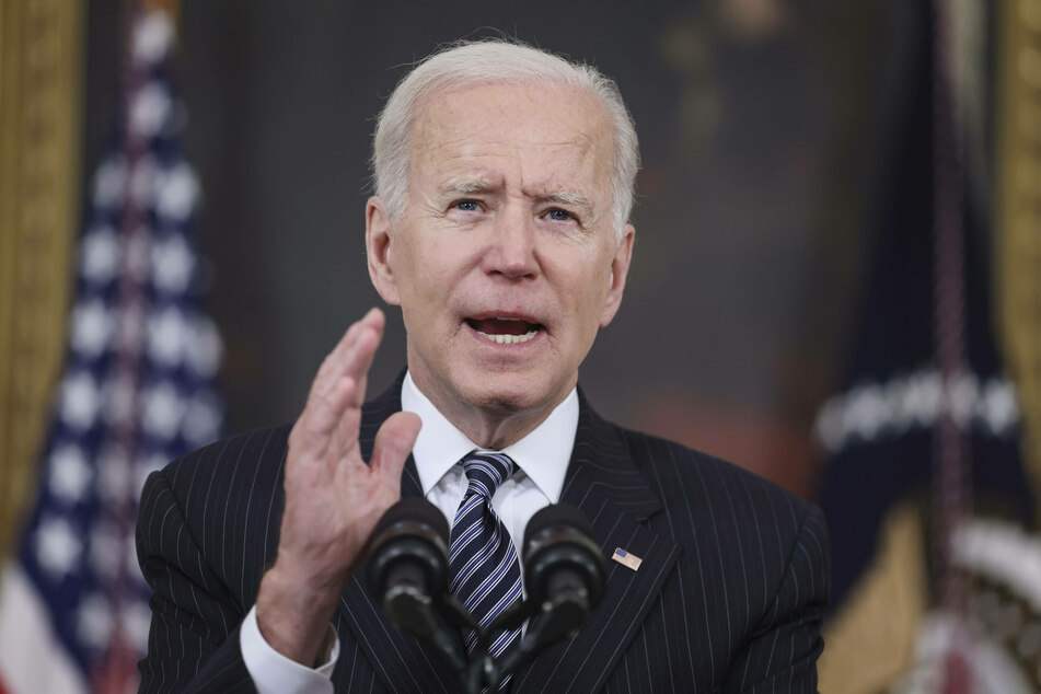 Joe Biden is on course to surpass his previous coronavirus vaccination goals.