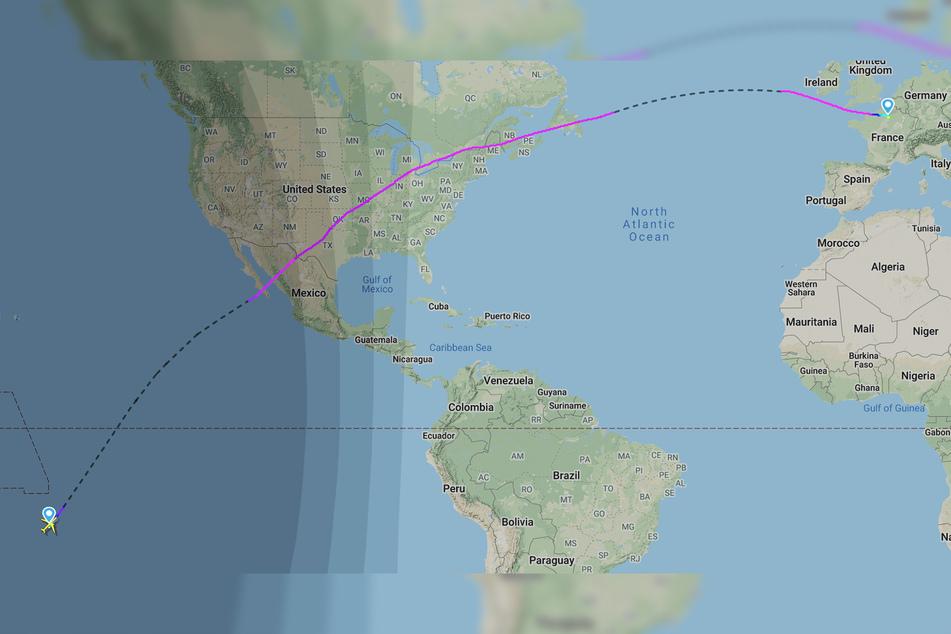 Fast 16 Stunden dauerte der Flug von Tahiti nach Frankreich.