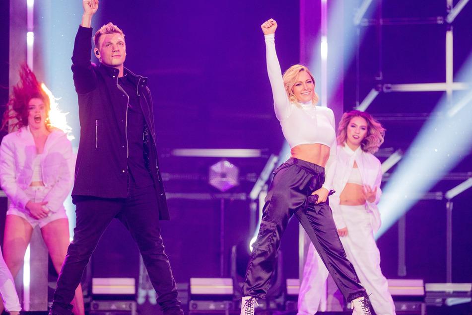 Aaron mit Bruder Nick (40) im Ring? Dieser teilt sich lieber die Bühnen - entweder mit seinen Backstreet Boys oder eben, wie hier, mit Helene Fischer im Dezember 2019 zur Weihnachts-Show unserer schönen Schlager-Queen.