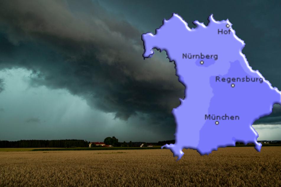 Für Bayern werden Regen, Hagel und Sturm erwartet. (Symbolbild)