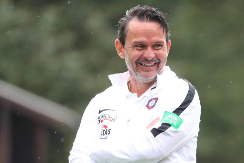 FCE Coach ist mit der Leistung von Aue-Mittelfeldspieler Philipp Riese zufrieden.
