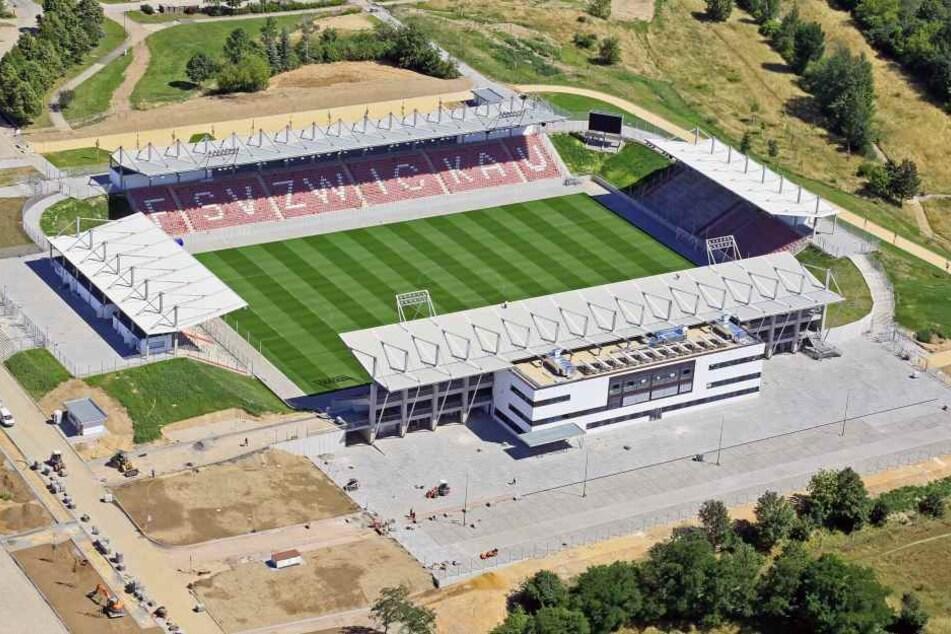 Das schöne neue Zwickau-Stadion ist mit der neuen Adresse leider nicht zu finden.