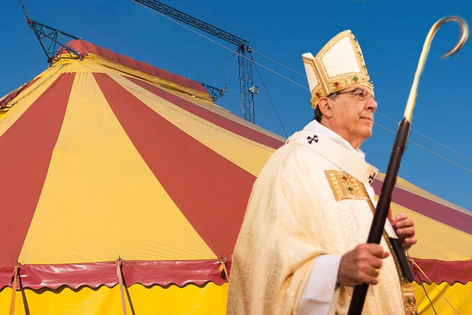 Pariser Erzbischof feiert Weihnachten im Zirkuszelt