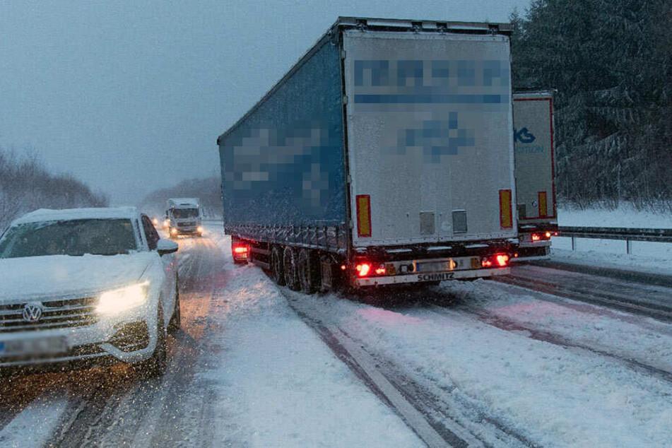 Tief Benjamin sorgte mit kräftigem Schneefall vor zwei Wochen für heftiges Chaos auf Sachsens Straßen.