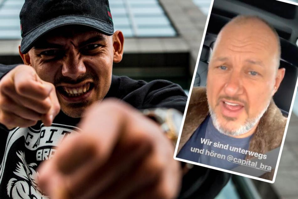 Heimlicher Fan: TV-Koch Frank Rosin findet Gefallen an der Musik von Capital Bra. (Bildmontage)