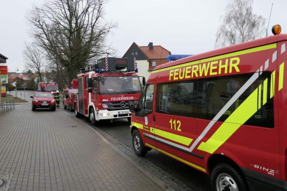 Mehrere Feuerwehren befinden sich derzeit in Panitzsch im Einsatz.