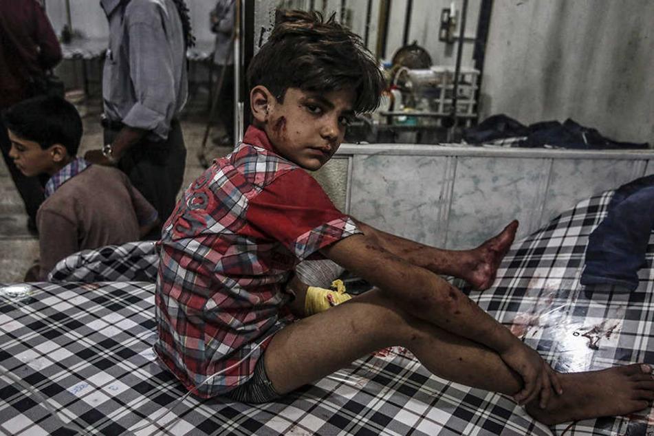 Viele aus Syrien Geflüchtete haben ein Kriegstrauma erlitten. Vor allem Kinder sind betroffen (Symbolbild).