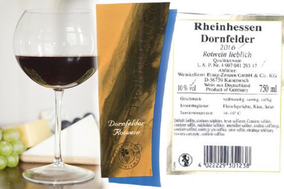 Betroffen ist der 2016 Rheinhessen Qualitätswein Dornfelder lieblich, 750 ml, 10,0 %vol.