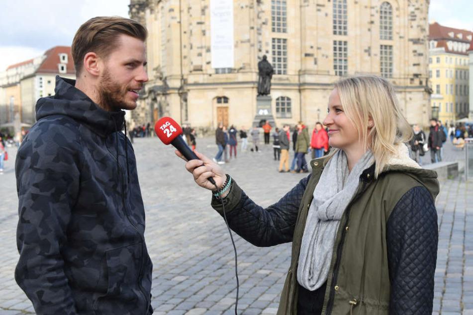 Justin Eilers im Interview mit TAG24-Reporterin Tina Hofmann.