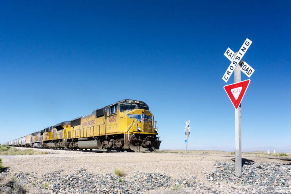 Ein Güterzug im US-Bundesstaat New Mexiko.
