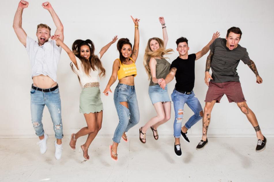 Sind in der Daily-Soap am Häufigsten zu sehen (v.l.n.r.): Dennis, Angie, Yvonne, Stella, Dustin und Rico.