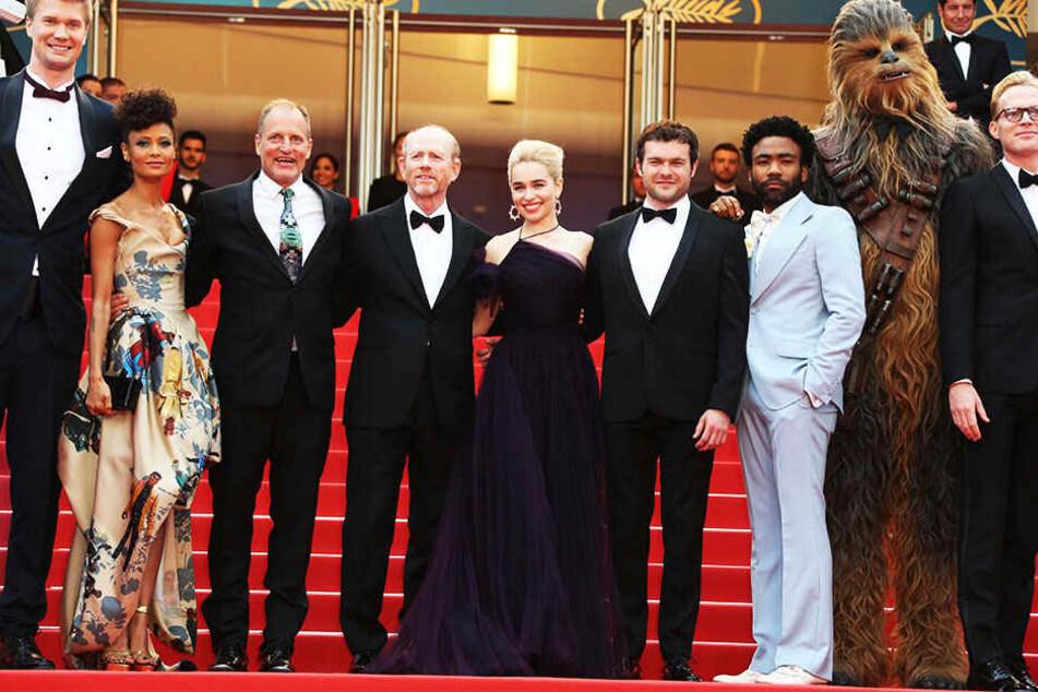 """Cast & Crew bei der Premiere von """"Solo"""" auf dem Filmfestival von Cannes."""