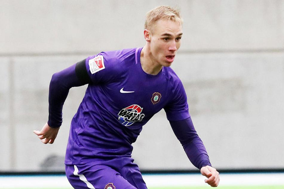 Kam im August mit der Empfehlung von 28 Toren und 23 Vorlagen bei den A-Junioren des FC Schalke 04 nach Aue: Florian Krüger.