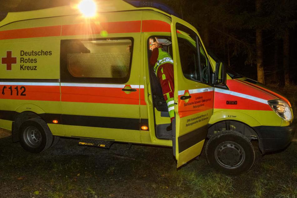 Mit dem Rettungswagen kamen die Pfadfinder in die Klinik.