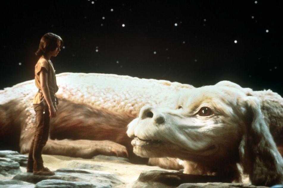 """Ein Szenenfoto aus dem Film """"Die unendlicheGeschichte"""" (Szenenfoto, 1983). Um die rechte am Buch gab es jahrelang Streit."""