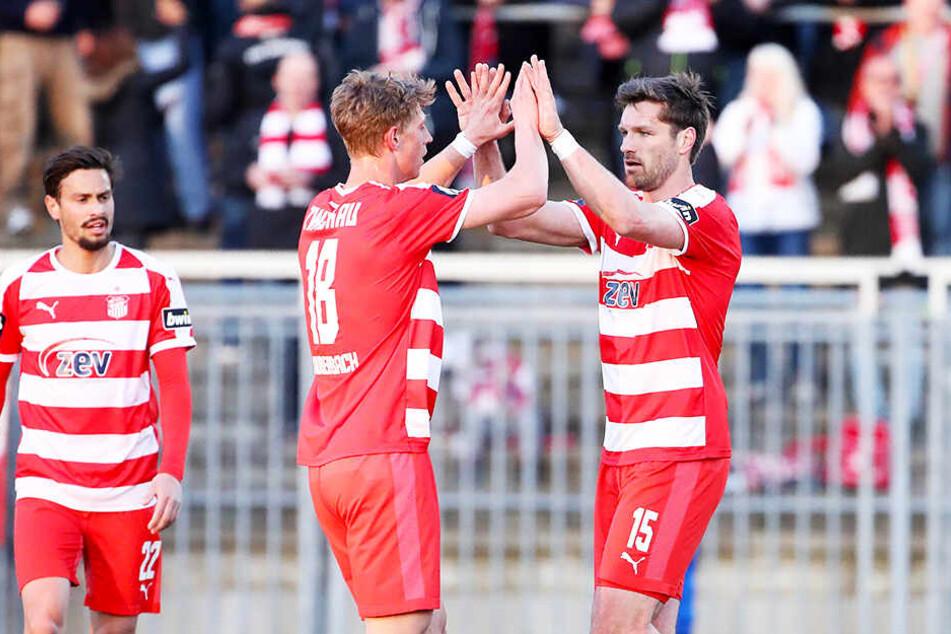 FSV-Torjäger Ronny König brachte Zwickau mit seinem 1:0 auf die Siegerstraße.
