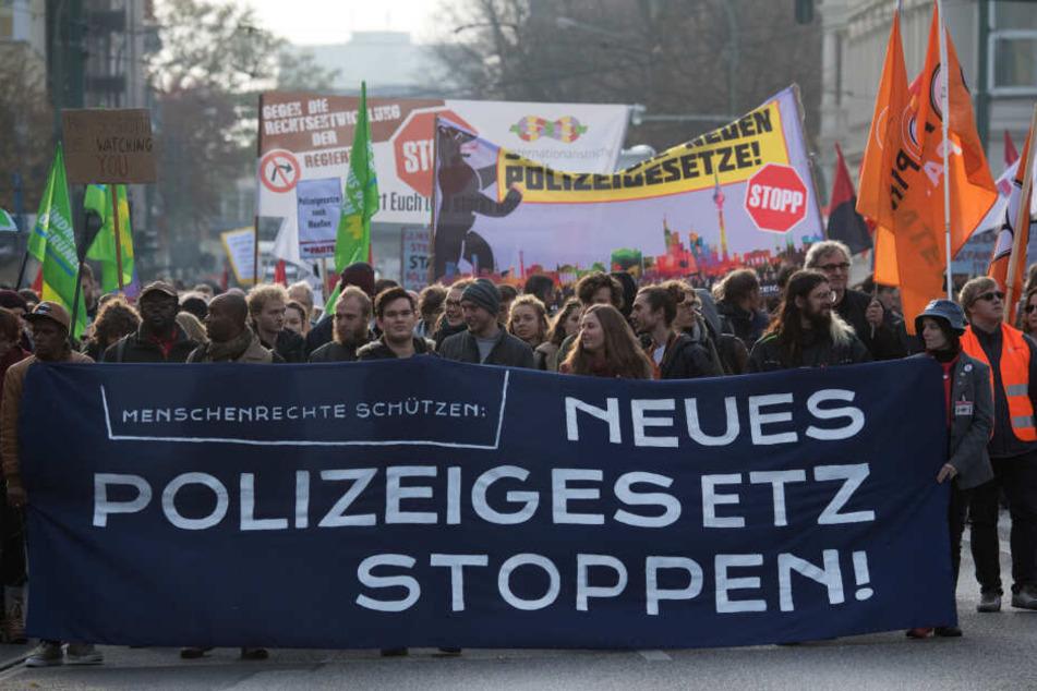 Demo gegen das umstrittene Polizeigesetz.