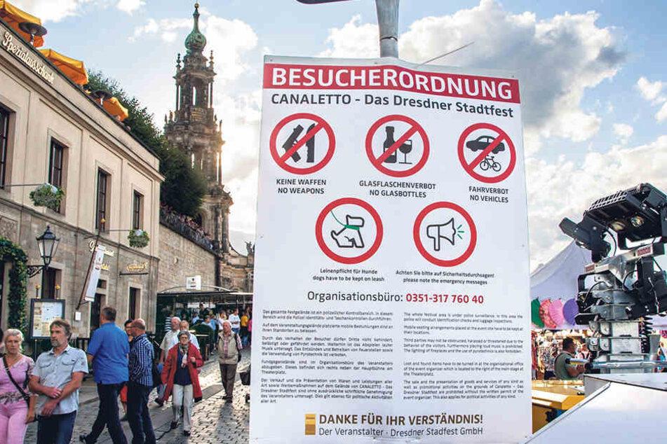 Das Sicherheitskonzept zum Stadtfest ging auf. Heikle Zwischenfälle  blieben aus.