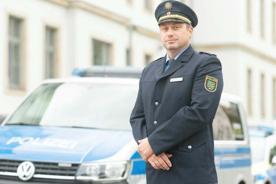 Gestatten, ich bin der Neue: Polizeirat Sven Fischer (41) leitet nun das Revier Dresden-Nord.