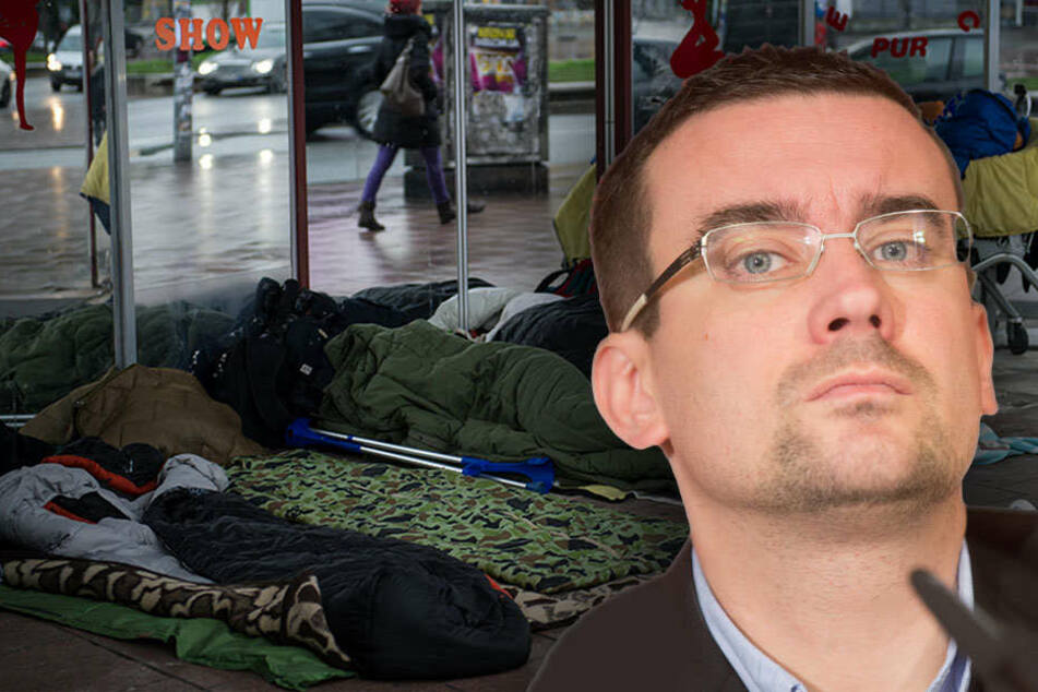 Fischer sieht beim Senat die Pflicht, Obdachlosen stärker zu helfen. (Bildmontage)