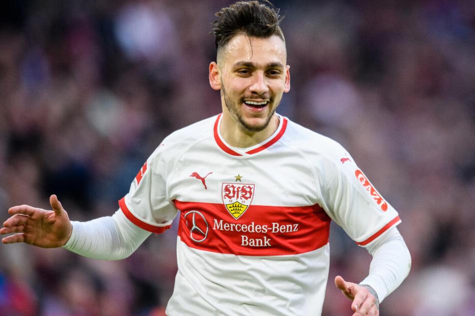 VfB-Flügelflitzer Anastasios Donis erzielte den 1:1-Ausgleich gegen den FC Bayern München.