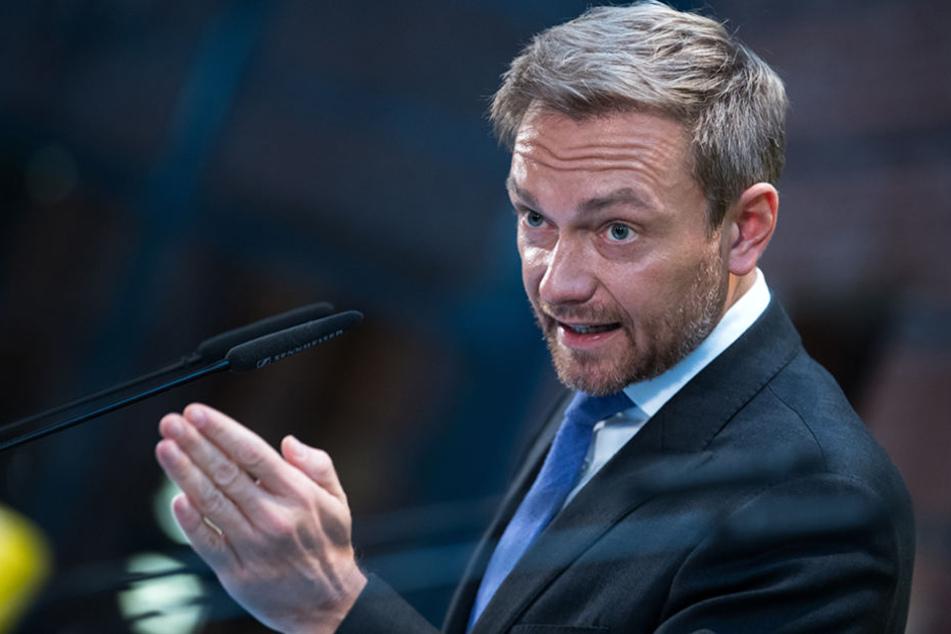 Christian Lindner, Bundesvorsitzender der FDP, äußert sich nach dem Scheitern der Jamaika-Sondierungen von CDU, CSU, FDP und Grünen in Berlin.