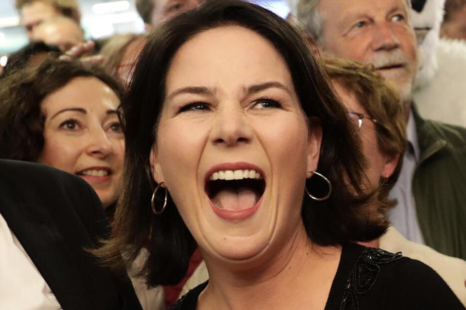 Strahlende Siegerin des Abends: Die Grünen-Vorsitzende Annalena Baerbock.