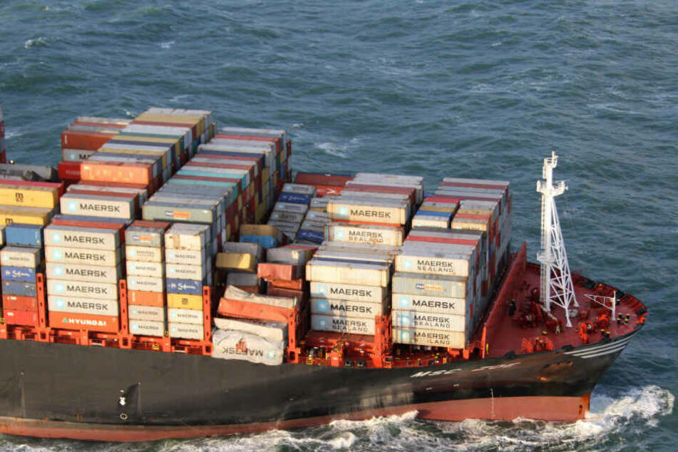 Die MSC Zoe verlor Anfang des Jahres mehr als 300 Container in der Nordsee.