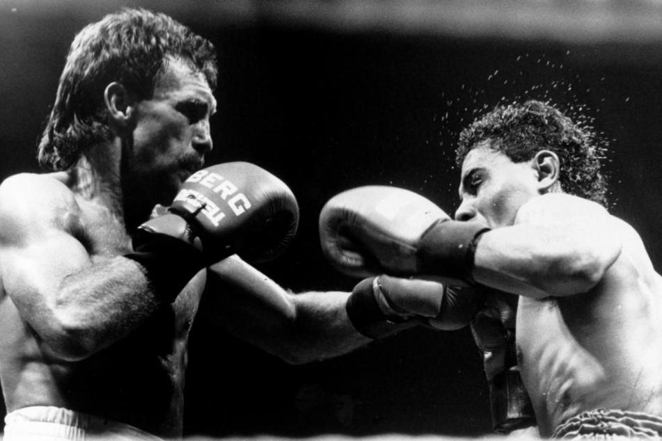 Karlsruhe, 1988: Weller im Kampf mit seinem Gegner Jose Maillot.