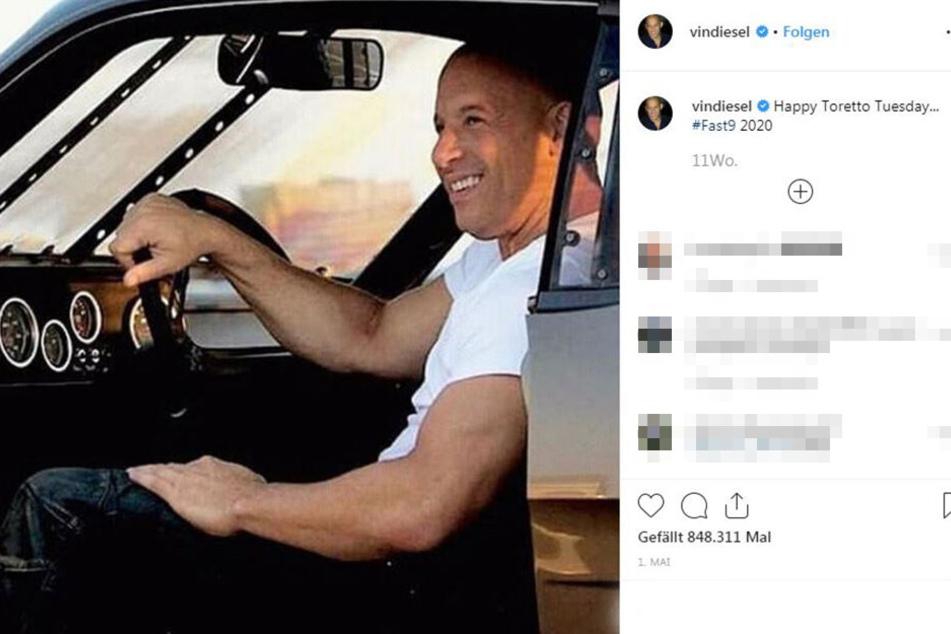 Vin Diesel bewarb im Mai noch den 2020 erscheinenden Film Fast & Furious 9 auf Instagram.