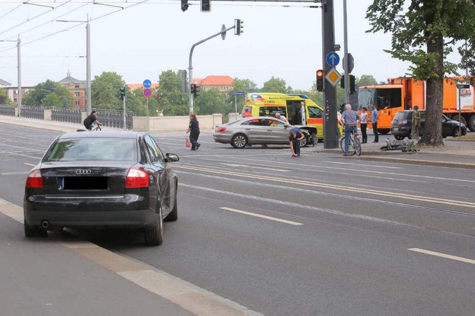 Der Unfall geschah am Sachsenplatz.