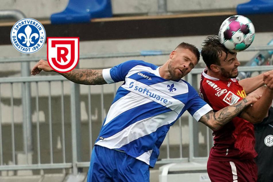 Viel Krampf: SV Darmstadt 98 kann auch gegen Jahn Regensburg nicht gewinnen