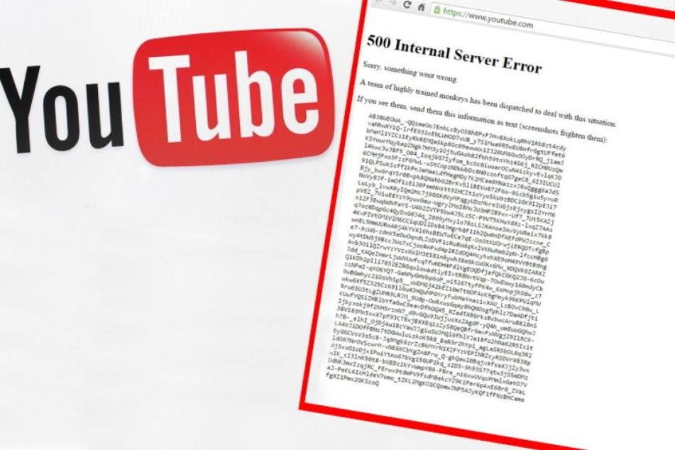 Was war denn mit der YouTube-Seite los?