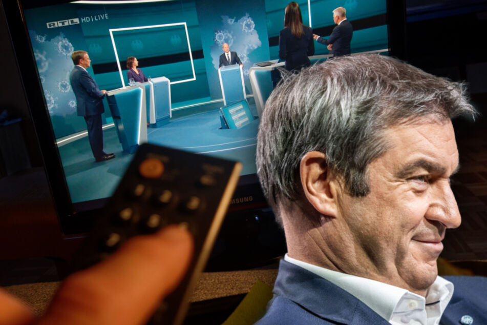 CSU-Chef Markus Söder (54) hat das TV-Triell mit Spannung verfolgt.