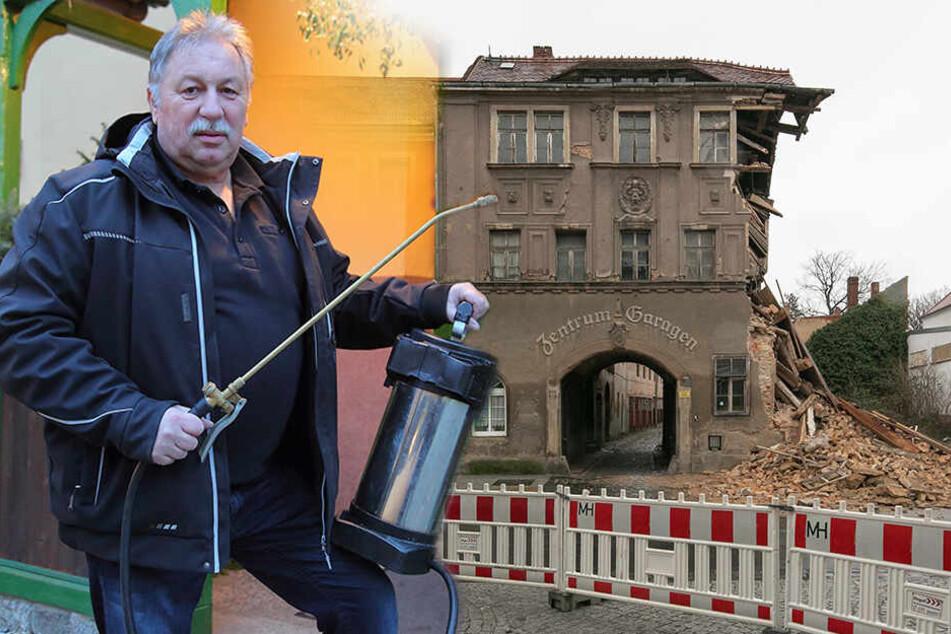 Eingestürztes Wohnhaus: Kammerjäger Karsten hat jetzt weder Küche noch Klo