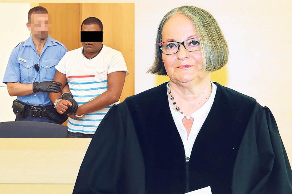 Jaswant S. (40, o. re.) war der letzte Täter, den die Chefrichterin verurteilte.Noch steht der Nachfolger von Richterin Birgit Wiegand (65) nicht fest. Doch die Schwurgerichtskammer bleibt freilich bestehen. Denn gemordet wird immer.