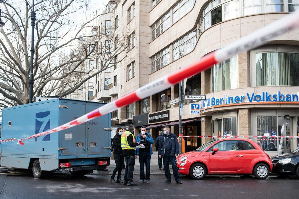Auf dem Berliner Kurfürstendamm wurde am 19. Februar 2021 ein Geldtransporter überfallen.