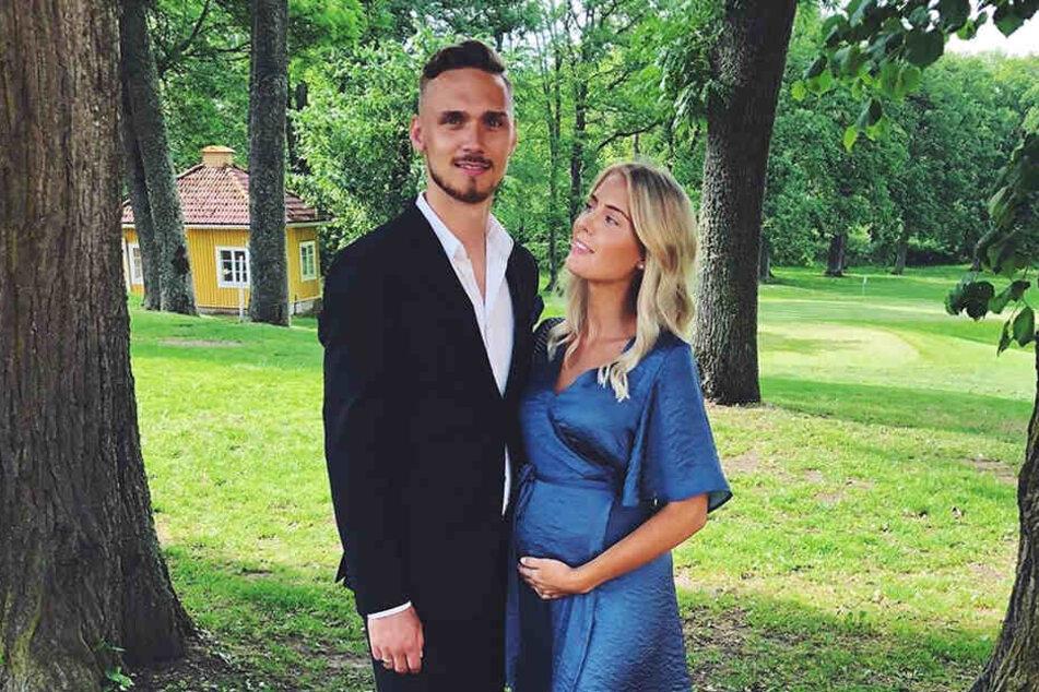 Tolles Paar: Linus Wahlqvist und seine Frau Malin werden bald Eltern.