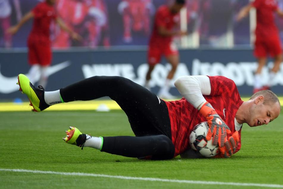 RB Leipzigs Peter Gulacsi (28) hat die wenigsten Gegentore in der Bundesliga-Hinrunde kassiert.